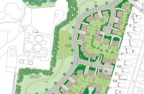 Loggerheads application granted for 78 new homes