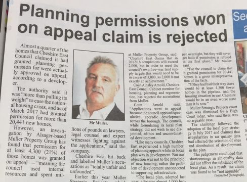 Muller hits the headlines after taking council to task